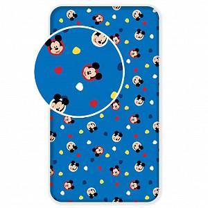 Bavlněné prostěradlo 90x200 Mickey Mouse