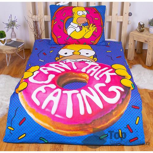 Bavlněné povlečení 140x200+70x90 Hladový Homer