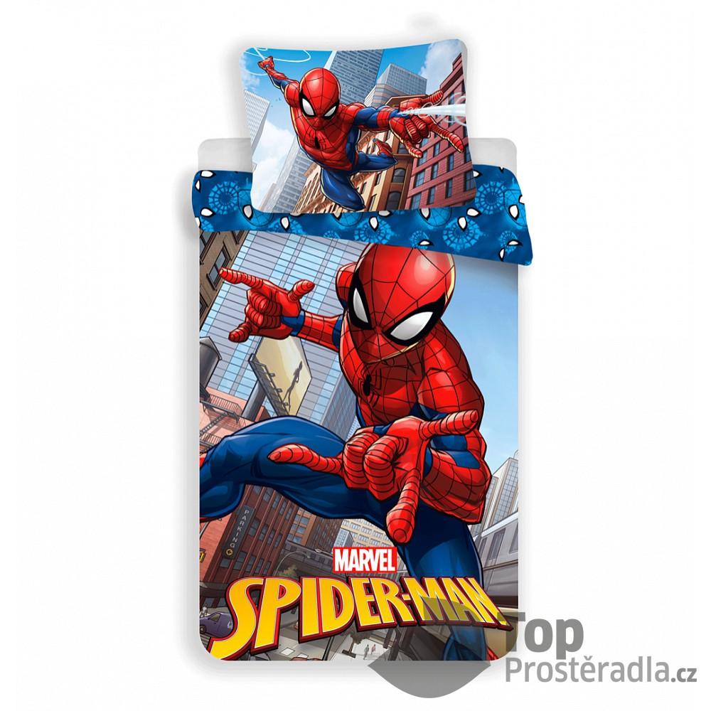 Dětské povlečení z mikrovlákna 140x200 70x90 Spiderman