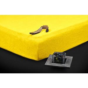 Froté prostěradlo (160 x 200) Premium - Žlutá