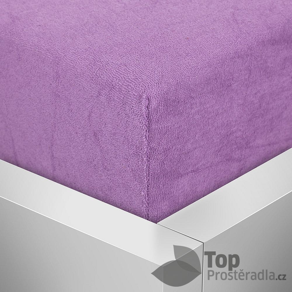 Levně TP Froté prostěradlo Premium 180g/m2 90x200 Lila