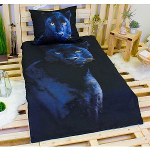 3D povlečení bavlna 140x200 + 70x90 - Panter