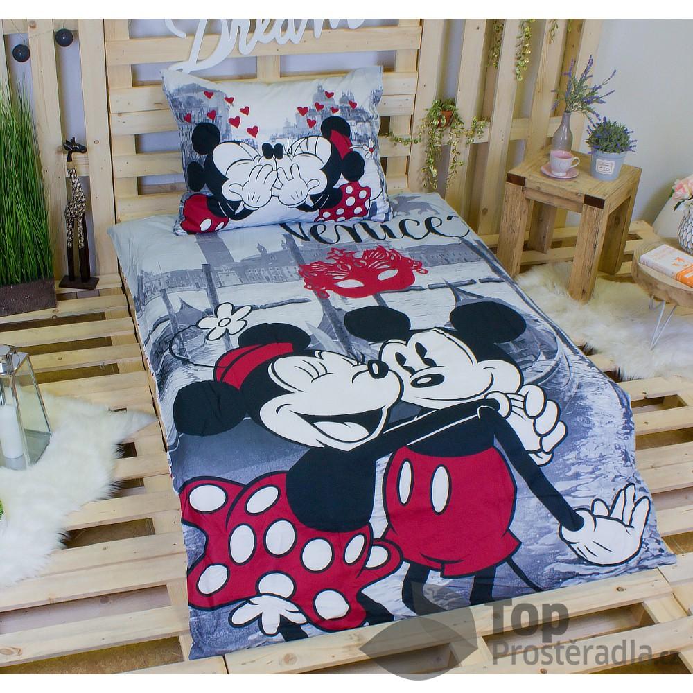 Bavlněné povlečení 140x200 70x90 Mickey & Minnie v Benátkách