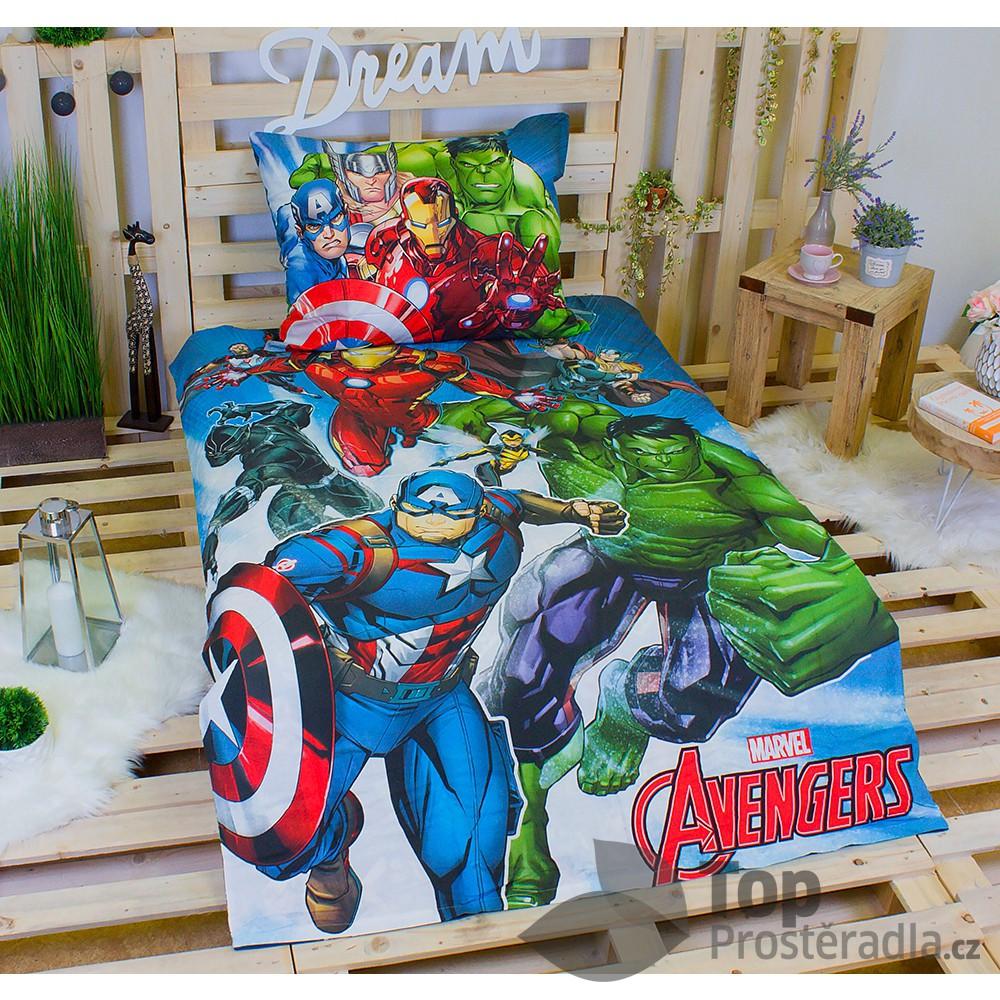 TOP Bavlněné povlečení 140x200+70x90 Avengers comics
