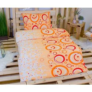 Krepové povlečení ECONOMY 140x200+70x90 - Desire oranžová