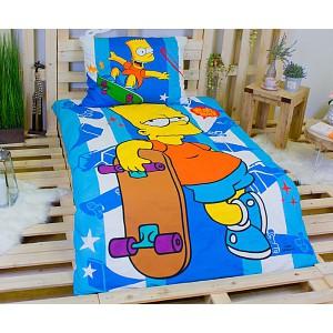 Bavlněné povlečení 140x200+70x90 Bart Simpson