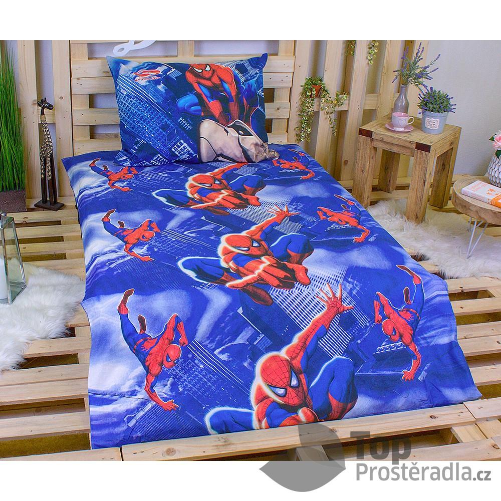 TOP Bavlněné povlečení 140x200+70x90 four spiderman