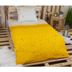 Bavlněné povlečení Good morning 140x200/220+60x70 BEER Yellow
