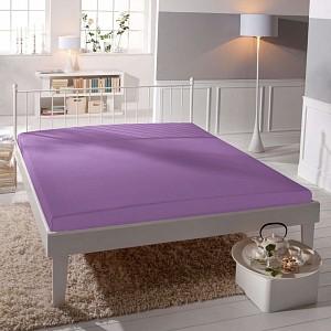 Jersey prostěradlo lycra DeLuxe (90 x 200) - Středně fialová