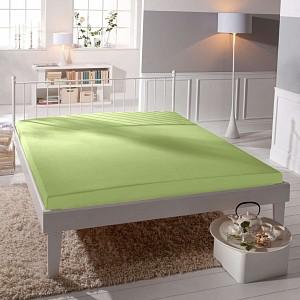 Jersey prostěradlo lycra DeLuxe (90 x 200) - Světle zelená