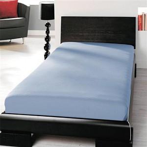 Jersey prostěradlo lycra DeLuxe (90 x 200) - Světle modrá