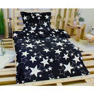Povlečení mikroflanel 140x200 + 70x90 - Black star