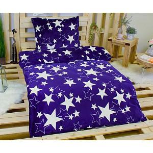 Povlečení mikroflanel 140x200 + 70x90 - Blue star