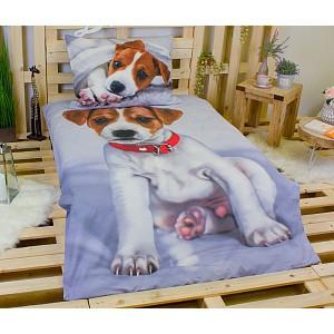 3D povlečení bavlna 140x200 + 70x90 - Pejsek