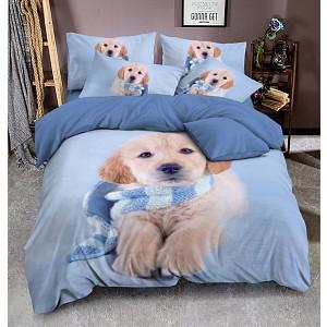 3D povlečení  140x200 + 70x90 + 40x40 - Winter puppy