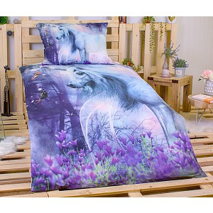 3D bavlněné povlečení Charming Unicorn 140x200+70x90 (ve tmě svítí)