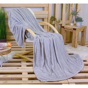 Mikroflanelová deka ŽAKÁR Premium 160 x 200 - Světle šedá