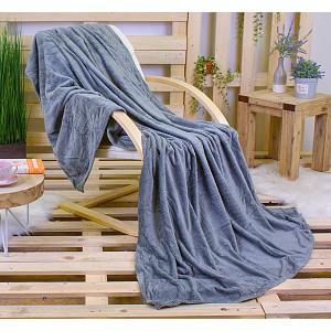 Mikroflanelová deka ŽAKÁR Premium 160 x 200 - Tmavě šedá