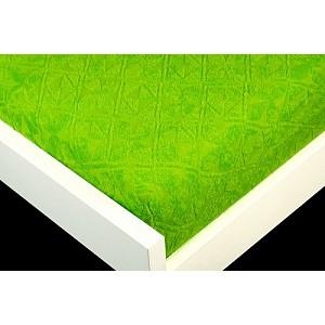 Žakárové prostěradlo (160 x 200) Premium - Zelená