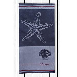 Plážová osuška BEACH 90x180 - Grey Ocean