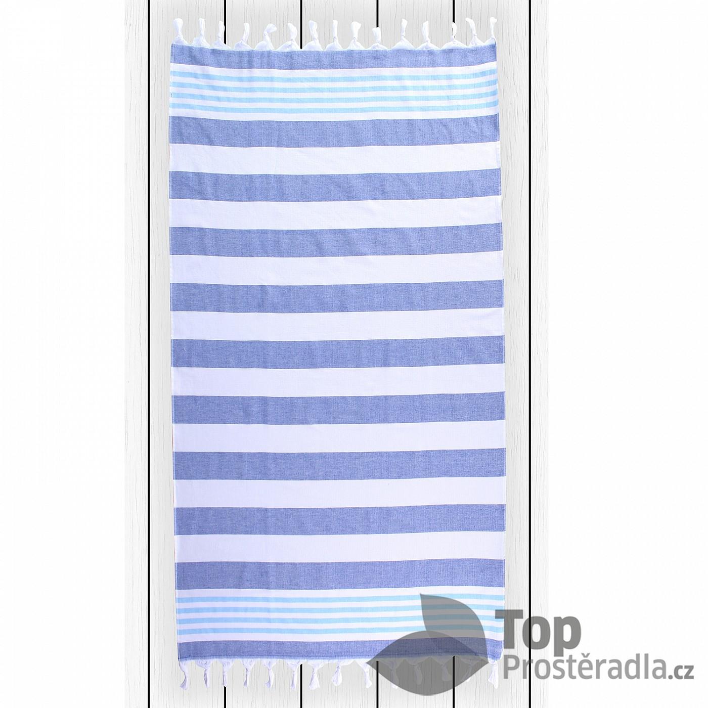 TOP Plážová osuška SANTORINI 90x170 Dark blue