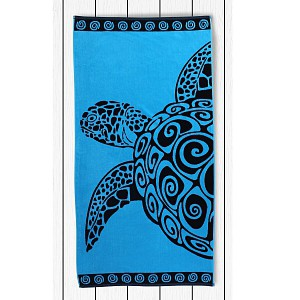 Plážová osuška BEACH 90x180 - Turquoise turtle