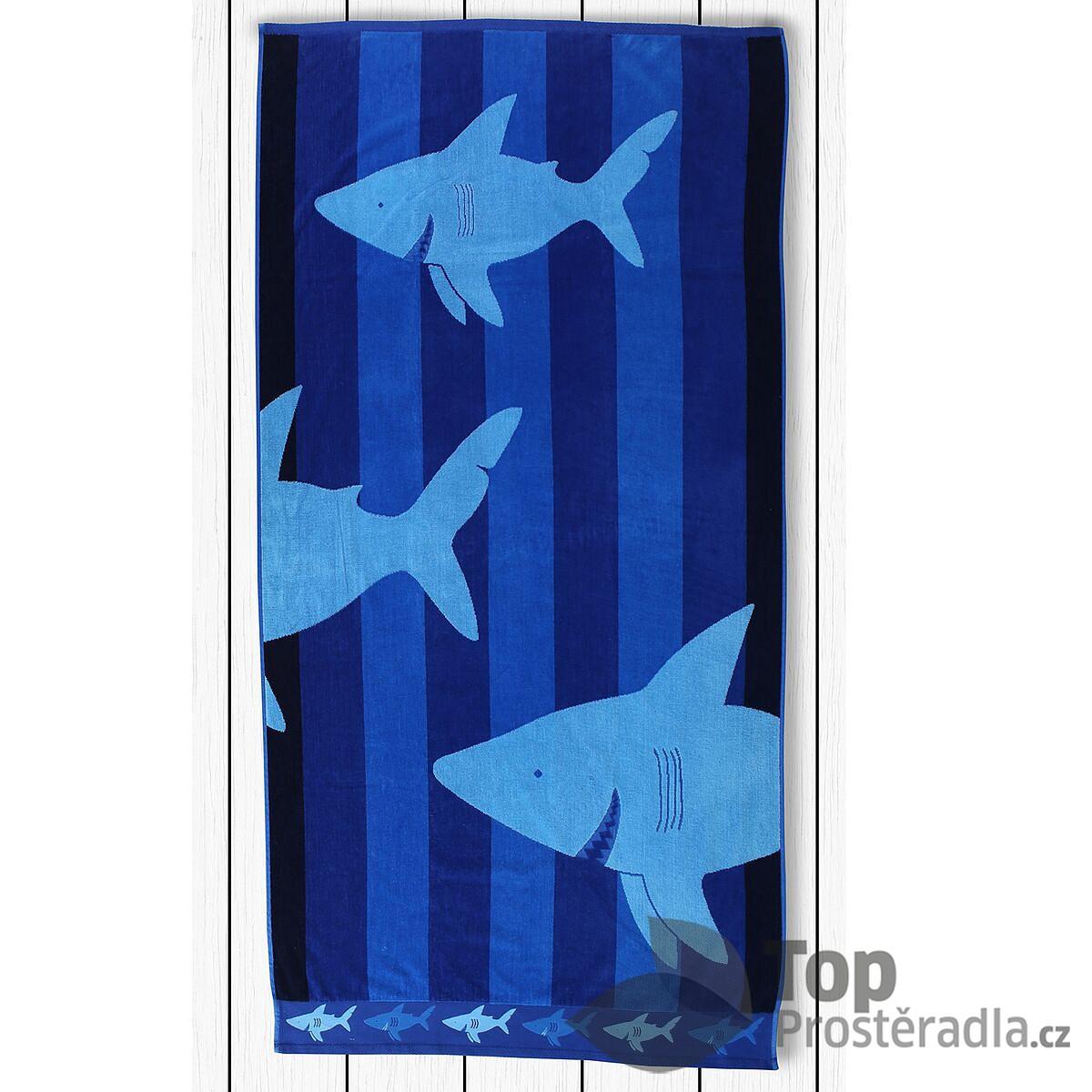 TOP Plážová osuška BEACH 90x180 Sharky