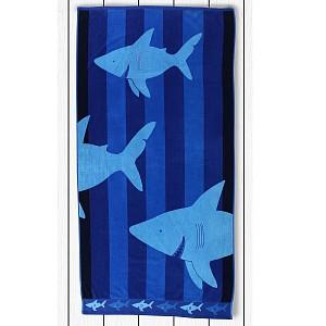 Plážová osuška BEACH 90x180 - Sharky