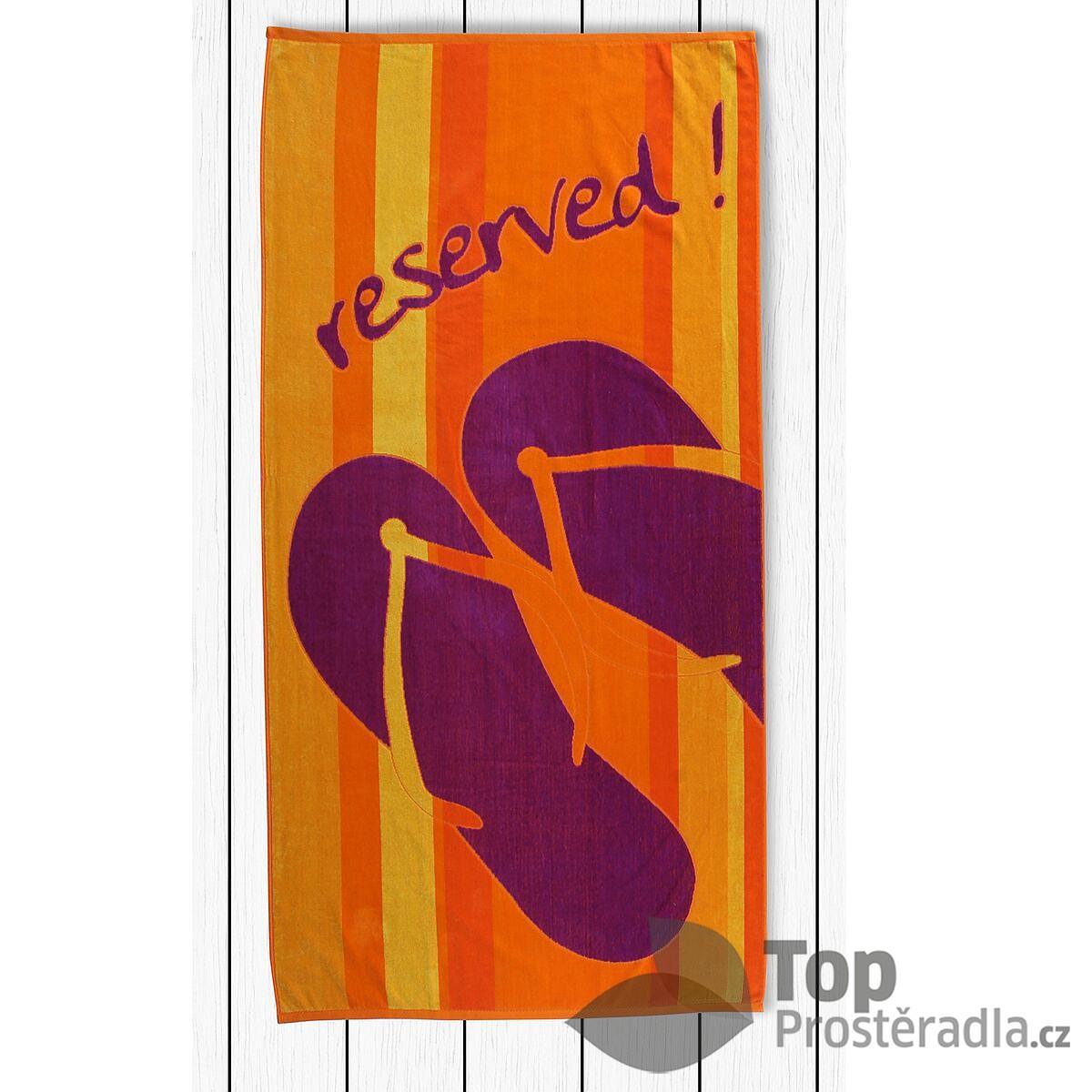 TOP Plážová osuška BEACH 90x180 Reservation