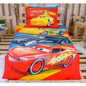 Bavlněné povlečení 140x200+70x90 Cars racing