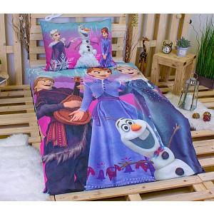 Bavlněné povlečení 140x200+70x90 Frozen happy winter