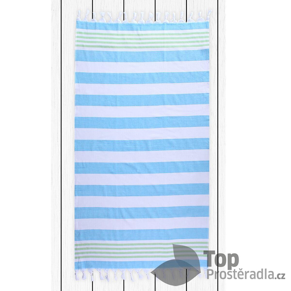TOP Plážová osuška SANTORINI 90x170 Turquoise