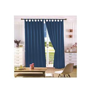 Saténové závěsy Home Art - 2 kusy Tmavě modrá