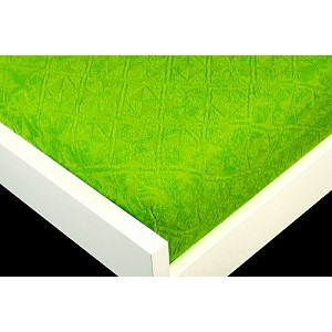 Žakárové prostěradlo (180 x 200) Premium - Zelená