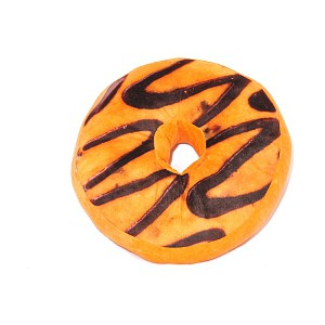 Dekorační plyšový polštářek DONUT 40 cm -  Black and White Choco
