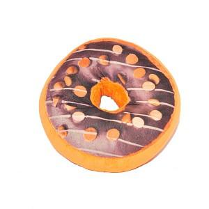Dekorační plyšový polštářek DONUT 40 cm -  Double Choco