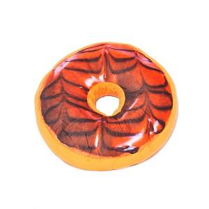 Dekorační plyšový polštářek DONUT 40 cm -  Karamelový