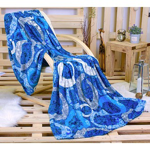 Deka mikroflanel 150x200  Modré blubliny