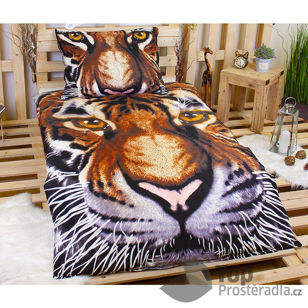 3D Povlečení 140x200 70x90 Tiger