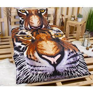 3D Povlečení 140x200+70x90 Tiger