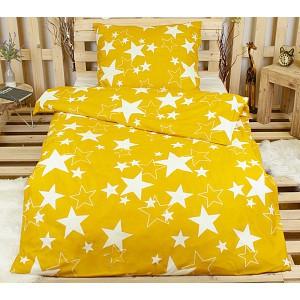 Povlečení 140x200 70x90 Stars -  Zlaté hvězdy