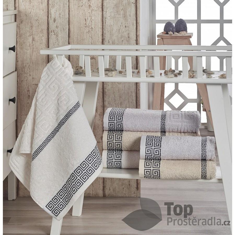 Froté ručník VICTORIA - Světle šedá