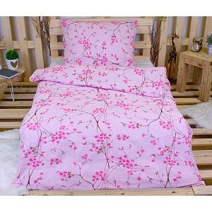 Krepové povlečení Sakura růžová  140x200+70x90