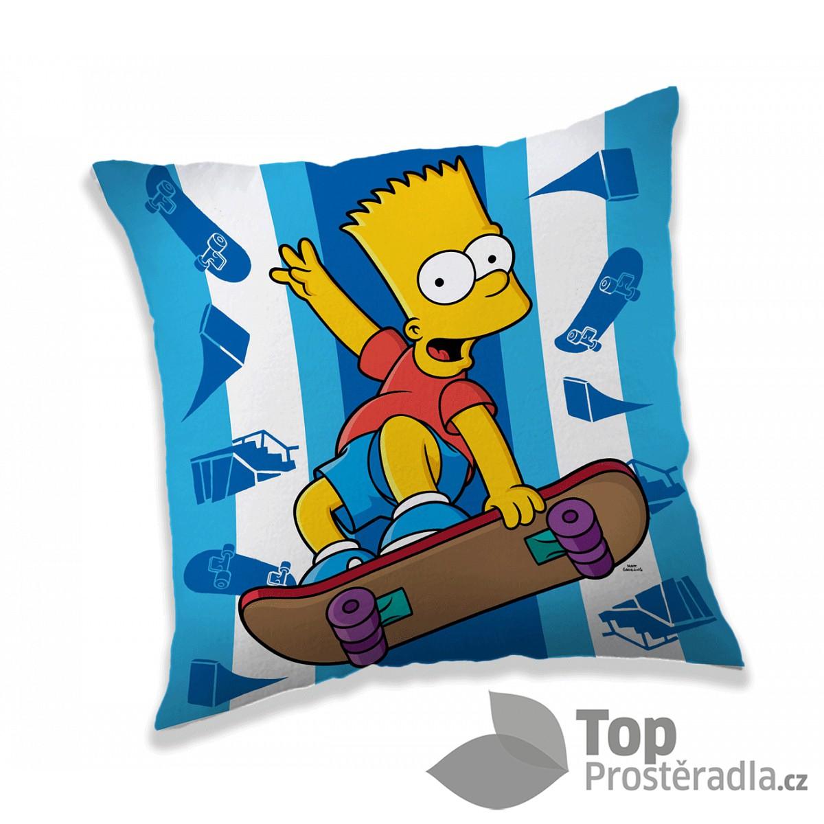 Dekorační polštářek 40x40 cm - Bart skater