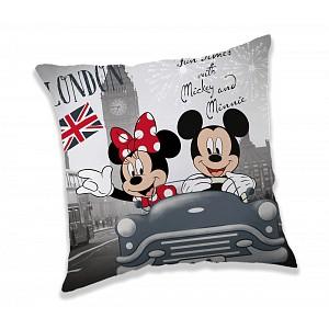 Dekorační polštářek 40x40 cm - Mickey & Minnie London Love