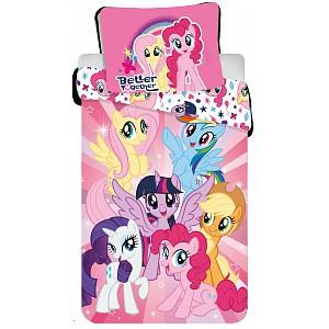Dětské bavlněné povlečení My Little Pony Duhoví přátelé 140x200+70x90