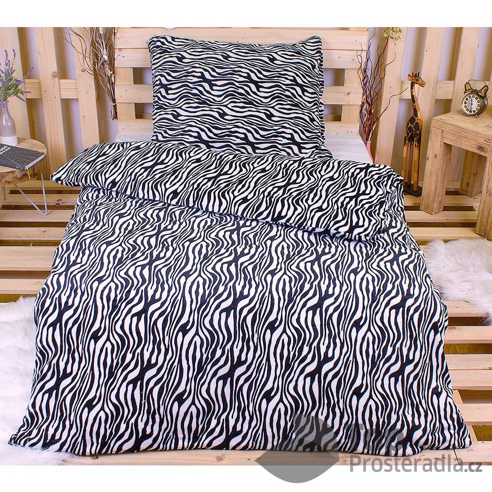Povlečení mikroflanel Exclusive 140x200 + 70x90 - Zebra