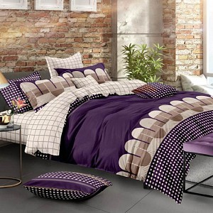 Francouzské povlečení 220x200  + 2x70x90  Purple Tubing