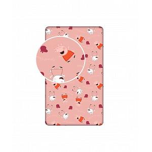 Dětské bavlněné prostěradlo 90x200  Peppa pig