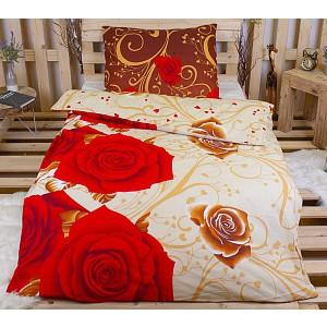 Bavlněné povlečení 140x200+70x90 -  Ornament s růžemi
